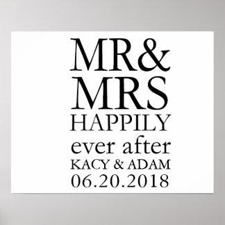 Póster Sr. y señora Sign