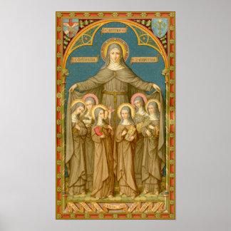 Póster St. Clare de Assisi y de las monjas (SAU 27)
