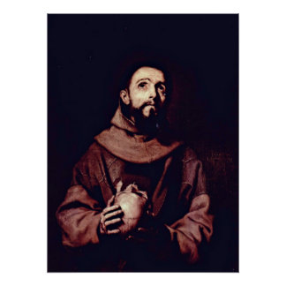 Póster St Francis de Assisi de Jusepe de Ribera
