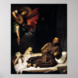 Póster St Francis del Visitation del ángel de Assisi