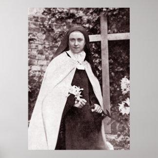 Póster St Teresa de Lisieux, la pequeña flor