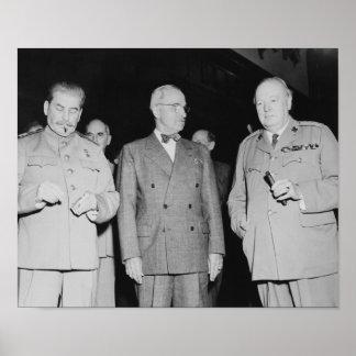 Póster Stalin, Truman, y Churchill -- Foto WW2