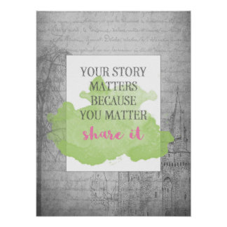 Póster Su historia importa el poster inspirado 18x24 del