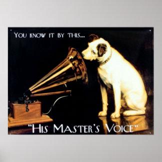 Póster Su voz de los amos