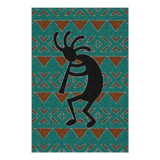 Póster Sudoeste Kokopelli tribal