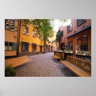 Póster Suecia hermosa, Gamla Stan, Estocolmo