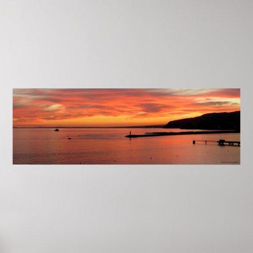 Póster Sunset Sea Poster, Lanscape of Almería Gulf