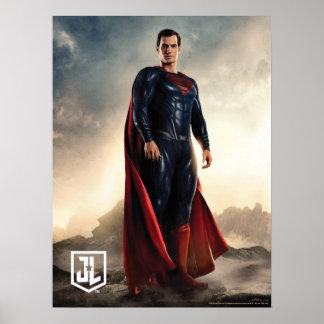 Póster Superhombre de la liga de justicia el | en campo