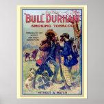 "Póster Tabaco que fuma 12 x de ""Bull Durham"" poster 16"
