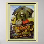 Póster Tabaco que fuma de Bull Durham del cartel del