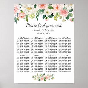 Póster Tablas florales rosadas de Rubor 8 que casan la