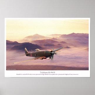 """Poster """"Tachikawa Ki-94-II"""" del arte de la aviació"""