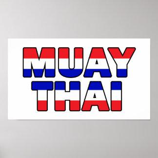 Póster Tailandés de Muay