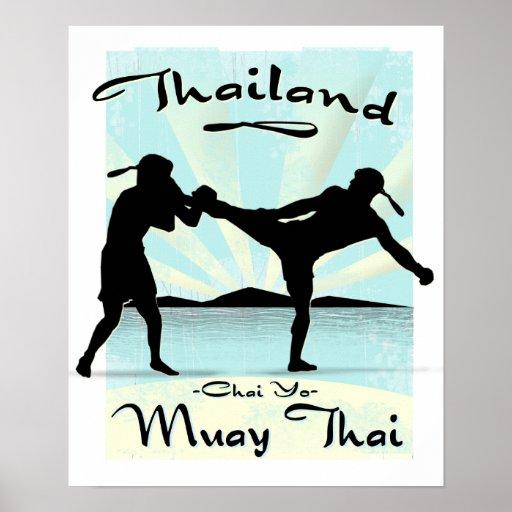 Poster tailandés de Tailandia Muay