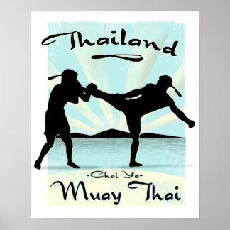 Poster tailandés de Tailandia Muay Póster