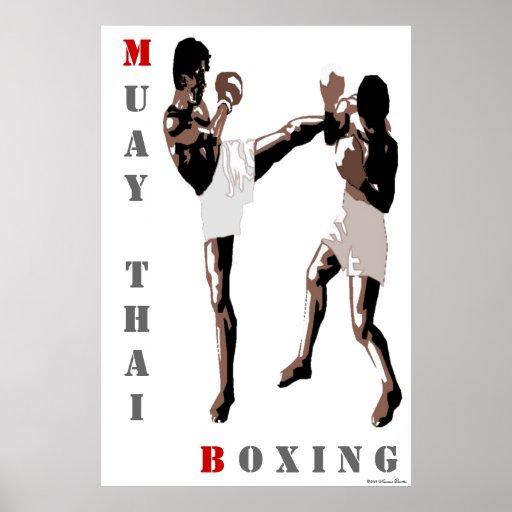 Poster tailandés del boxeo de Muay