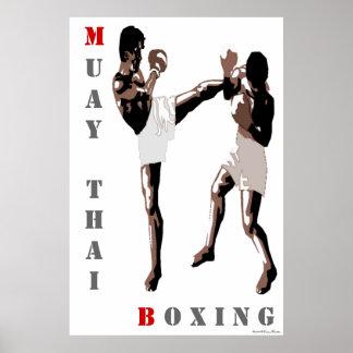 Poster tailandés del boxeo de Muay Póster