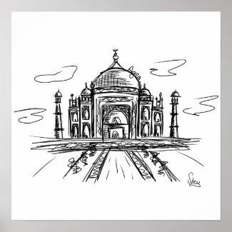Póster Taj Mahal