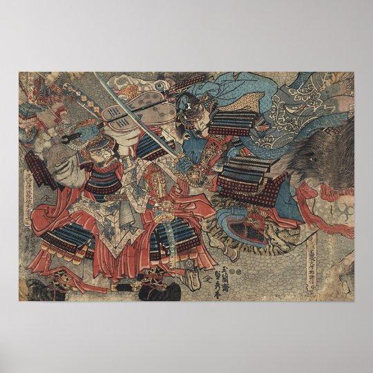 Póster Takeda Shingen and Uesugi Kenshin kawanakajima