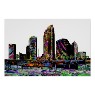 Póster Tampa en pintada