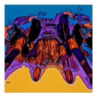 Póster Tarantula del mosaico
