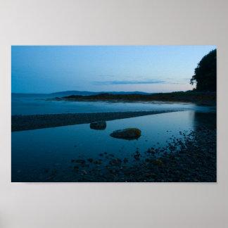 Póster Tarde apacible, bahía de Penobscot, Maine