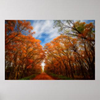 Póster Tarde del otoño