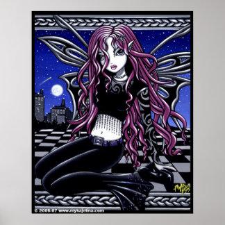 Poster tatuado Scape rosado de la ciudad de Stacy