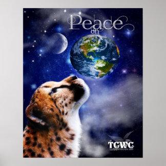 Póster TCWC - Paz en guepardo de la tierra