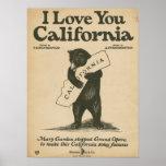 Póster Te amo California
