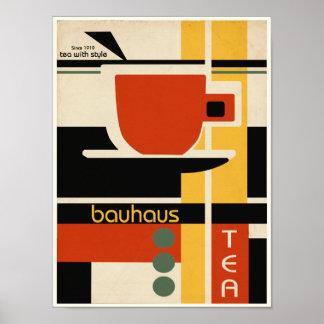 Póster Té del diseño del Bauhaus