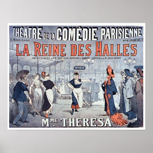 Póster Teatro de la comedia del DES Halles de Reine del