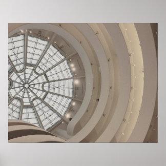 Póster Techo del museo de Guggenheim en el poster de New