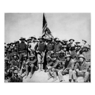 Póster Teddy Roosevelt y Rough Riders