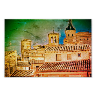 Póster Tejados de Toledo