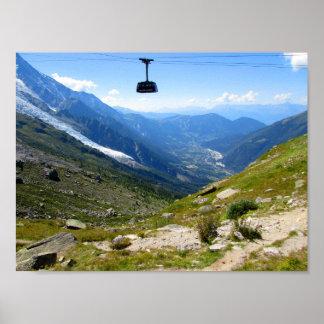 Póster Teleférico de Mont Blanc