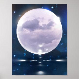poster tempestuoso de la luna 8.5x11 póster