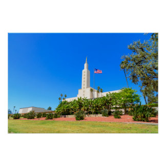 Póster Templo de Los Ángeles