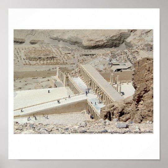 Póster Templo Hatshepsut Egipto
