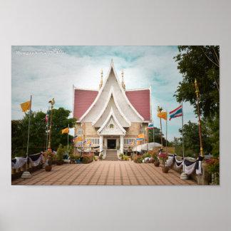 Póster Templo tailandés local
