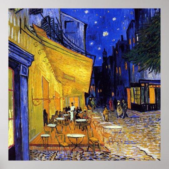 Póster Terraza Del Café En La Noche De Vincent Van Gogh
