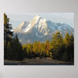 Póster Tetons magnífico Wyoming