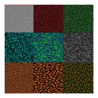 Póster Texturas procesales tejadas