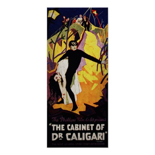 Póster THE CABINET OF Dr. CALIGARI
