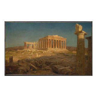 Póster The Parthenon - Frederic Edwin Church (1871)