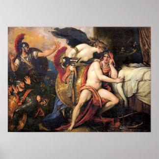 Póster Thetis trae la armadura de Aquiles