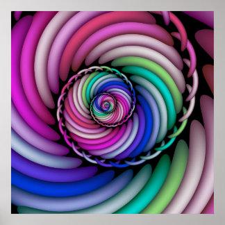 Póster Tienda espiral del caramelo del fractal