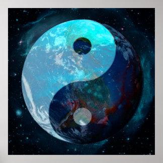Póster Tierra Yin Yang