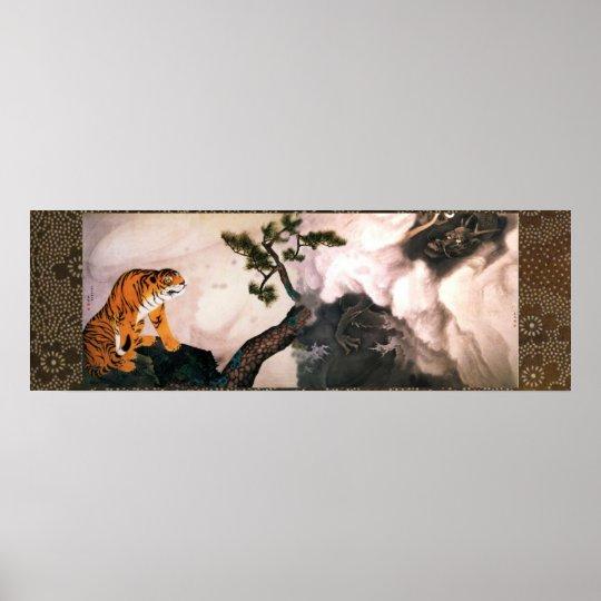 Póster Tigre y dragón (1781) Maruyama Okyo