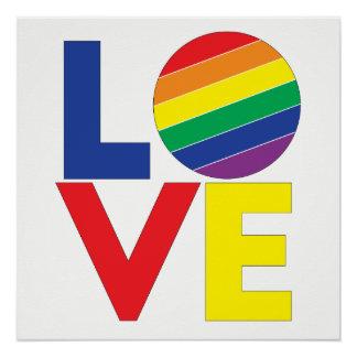 Póster Tipografía gay del amor